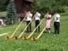 Das Alphornquartett Imlig in Riemenstalden, Juli 2003