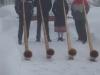Winterlicher Auftritt beim Restaurant Edelweiss auf der Rigi für das 100-Jahr Jubiläum des Ski-Club Luzern, Winter 2004
