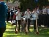 Mitgestaltung des Festgottesdienstes in Hochdorf mit der Harmoniemusik Hochdorf, Juni 2004