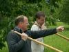 Armin bei einer Probe der Alphorngruppe Rigi-Mythen, Juni 2006