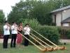 Alphornquartett Imlig bei einer Hochzeit in Frankreich, Juli 2006